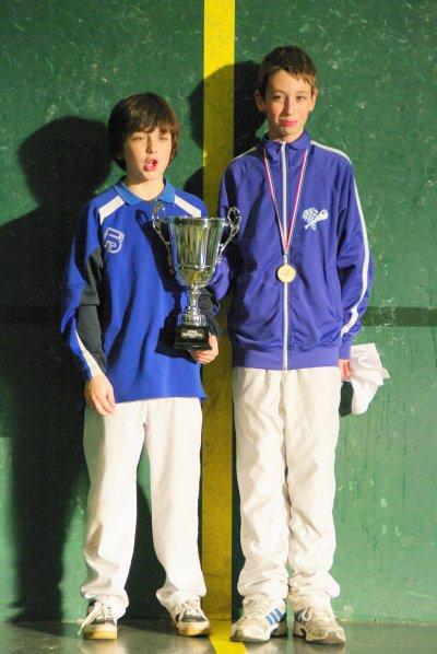 Les champions benjamins CA Béglais  Kévin Blanchet et  Antoine Garcia - 51.9ko