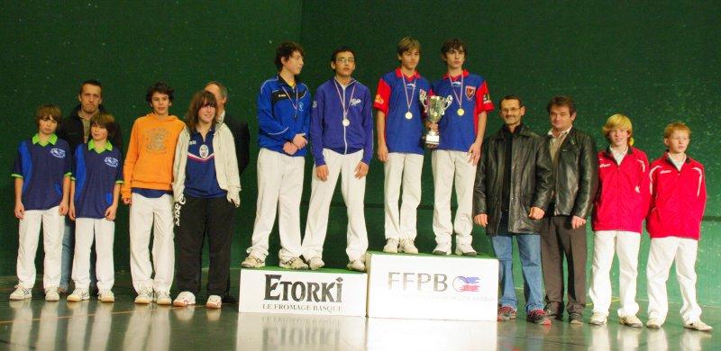 Le podium minime finaliste le CA Béglais Etienne Martin et Timothé Sender - 68.9ko