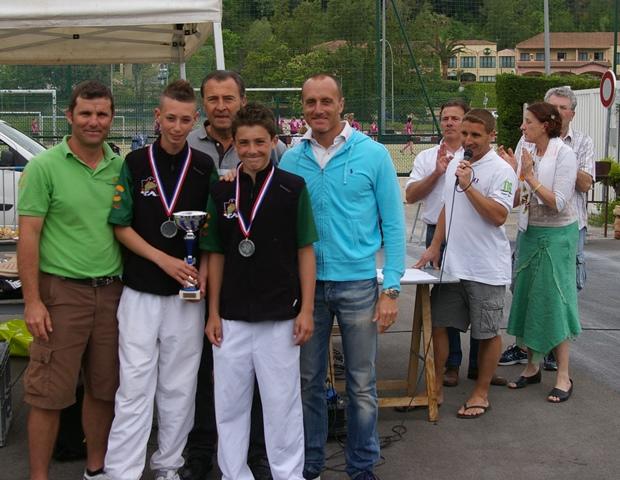 Les vainqueurs minimes  Kevin Blanchet et Antoine Garcia - 206.5ko