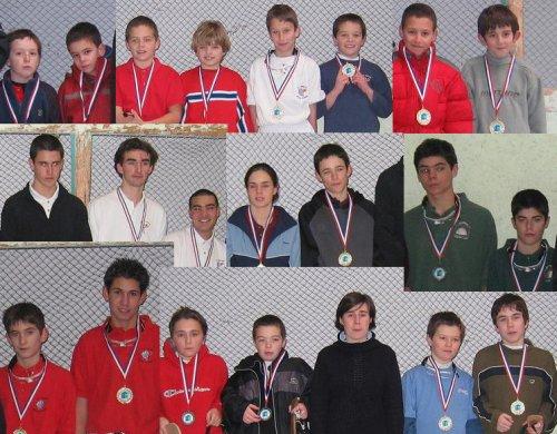 Les finalistes du Championnats Jeunes Trinquet 2005 - 62.6ko